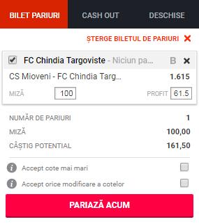 pont pariuri CS Mioveni vs Chindia Targoviste