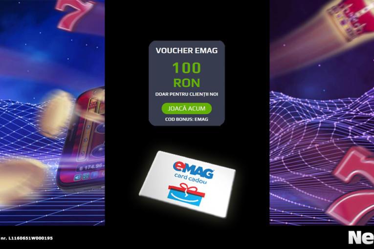 voucher eMag 100 RON la Netbet