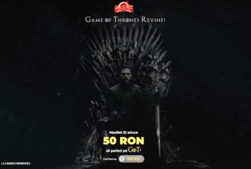50 lei fara depunere la Maxbet sa pariezi pe Game of Thrones!