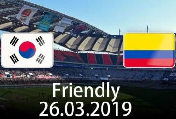 Ponturi Coreea de Sud vs Columbia fotbal 26 martie 2019 amical