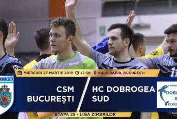 Ponturi CSM Bucuresti-Dobrogea Sud handbal 27-martie-2019 Liga Zimbrilor