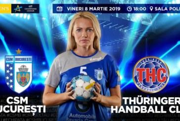 Ponturi CSM Bucuresti – Thuringer handbal 8-martie-2019 Champions League