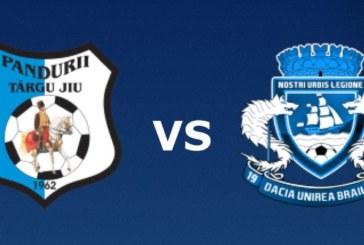 Ponturi Pandurii Tg. Jiu vs Dacia Unirea Braila fotbal 23 martie 2019 Liga a II-a Romania