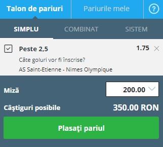 pont pariuri St. Etienne vs Nimes