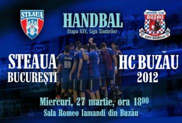 Ponturi HC Buzau-Steaua handbal 27-martie-2019 Liga Zimbrilor
