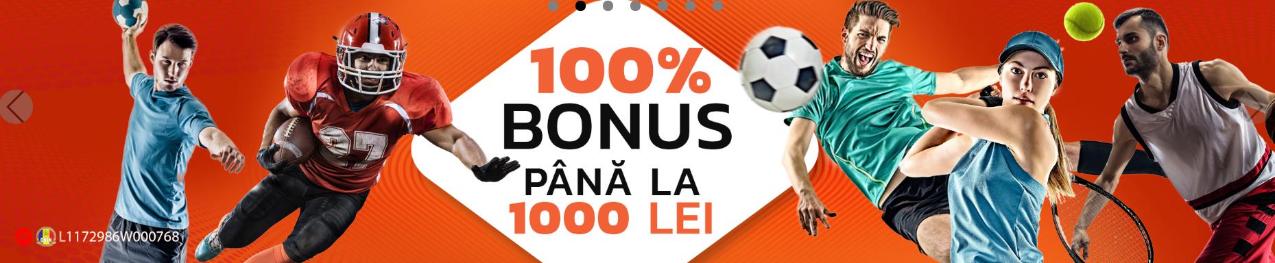bonus publicwin 100% pana la 1000 RON
