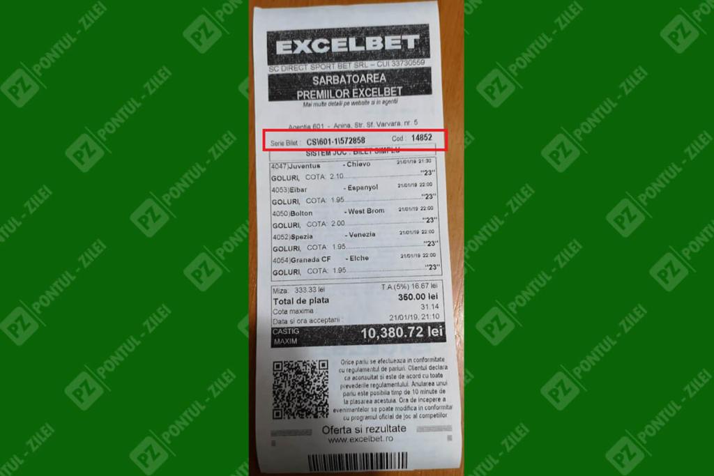 Cum verifici biletul la Excelbet