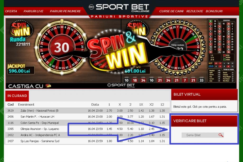 Cum verifici biletul la Sport Bet Challenge