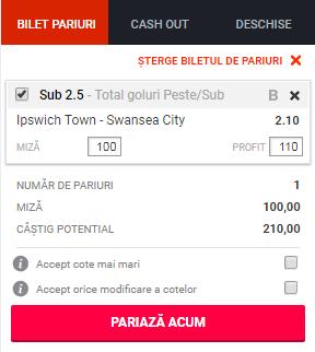 pont pariuri Ipswich vs Swansea