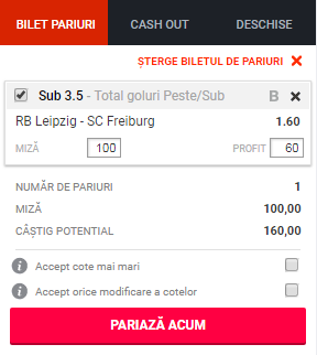 pont pariuri RB Leipzig vs Freiburg