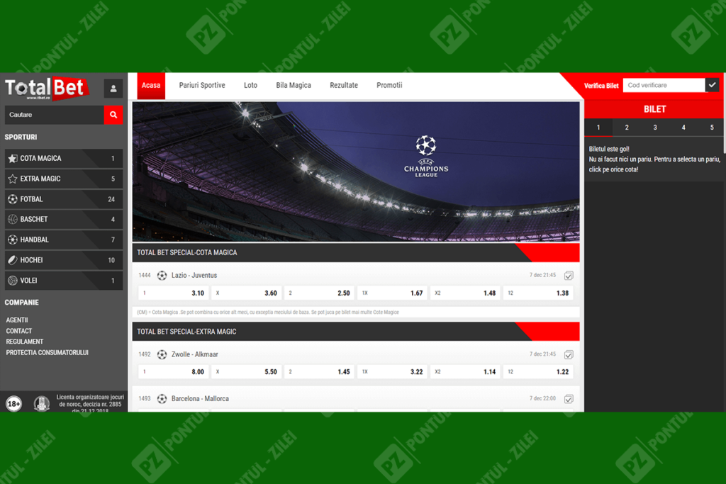 Site-ul Total Bet