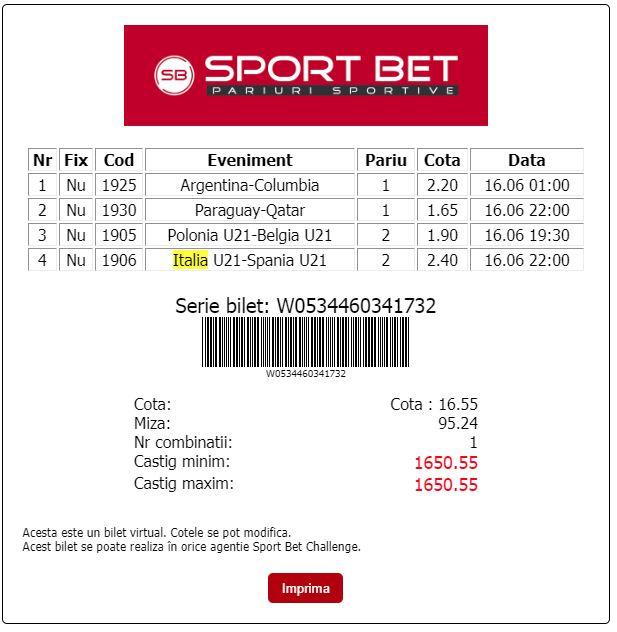 Sport Bet - Bilet Cotă Mare pariuri