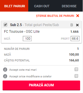 pont pariuri Toulouse vs Lille