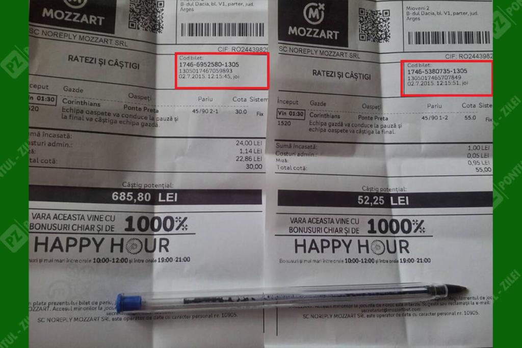 Verificare bilet agentie Mozzart