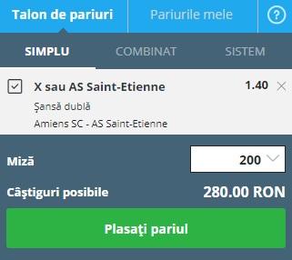 pont pariuri Amiens vs Saint-Etienne