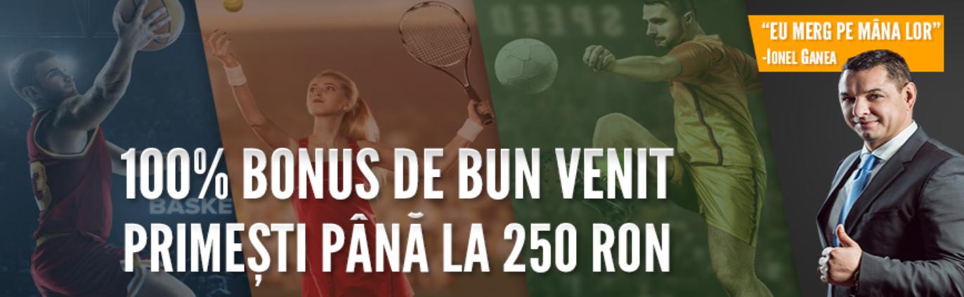 bonus 100% pana la 250 RON la Baumbet