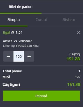 pont pariuri Deportivo Alaves vs Real Valladolid