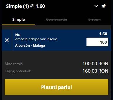 pont pariuri Alcorcon vs Malaga