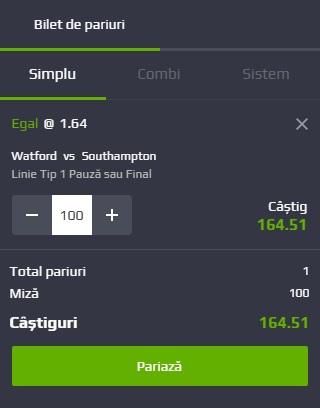 pont pariuri Watford vs Southampton