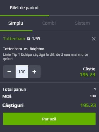 pont pariuri Tottenham vs Brighton & Hove