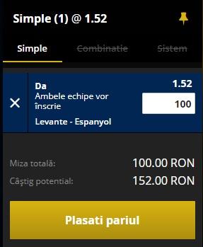 pont pariuri Levante vs Espanyol