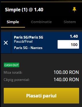 pont pariuri PSG vs Nantes