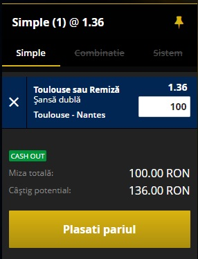 pont pariuri Toulouse vs Nantes