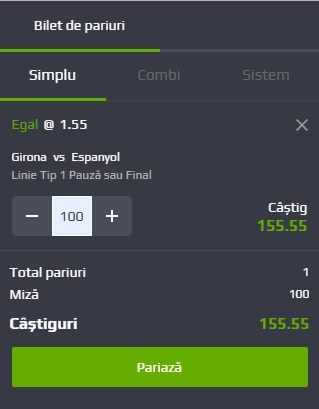 pont pariuri Girona vs Espanyol