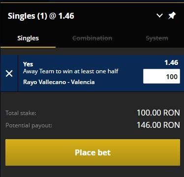 pont pariuri Rayo Vallecano vs Valencia