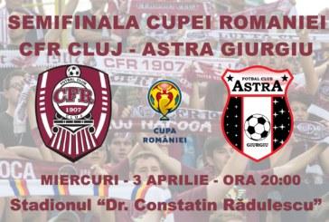 Ponturi CFR Cluj-Astra Giurgiu fotbal 3-aprilie-2019 semifinale Cupa Romaniei