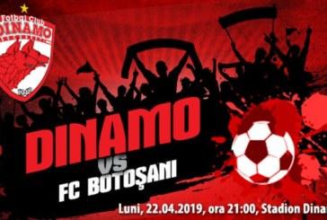Ponturi Dinamo vs FC Botosani fotbal 22 aprilie 2019 Liga I Betano Romania