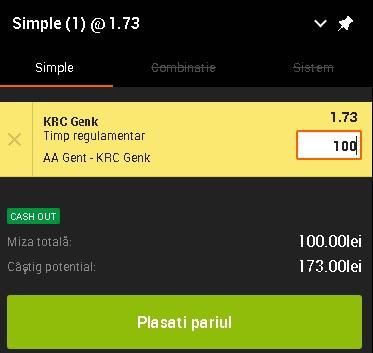 pont pariuri Gent vs Genk
