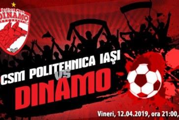 Ponturi Poli Iasi vs Dinamo fotbal 12 aprilie 2019 Liga I Betano Romania