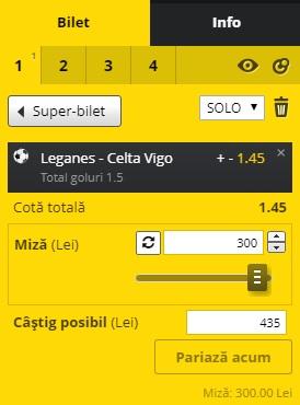 pont pariuri Leganes vs Celta Vigo