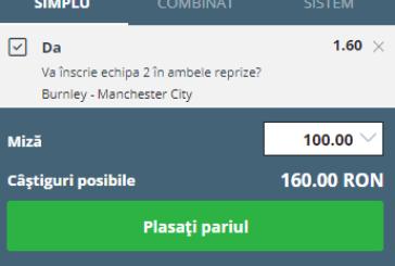 Ponturi Burnley – Manchester City fotbal 28-aprilie-2019 Anglia Premier