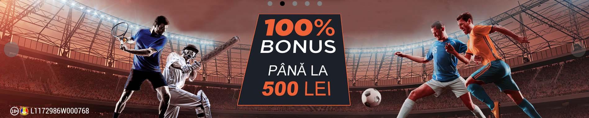 bonus 100% pana la 500 ron la publicwin