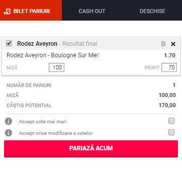 pont pariuri Rodez vs Boulogne