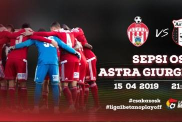 Ponturi Sepsi Sf. Gheorghe vs Astra Giurgiu fotbal 15 aprilie 2019 Liga I Betano Romania