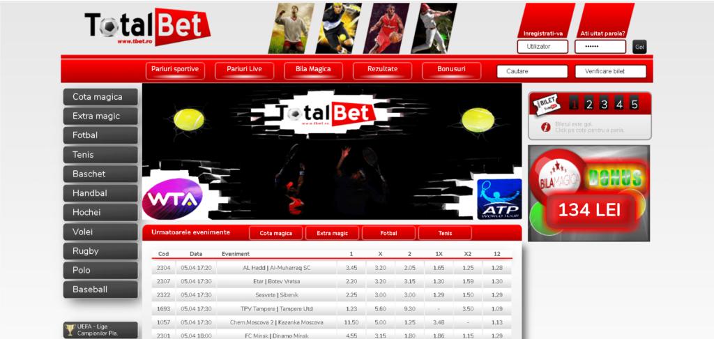 site casa de pariuri Total Bet