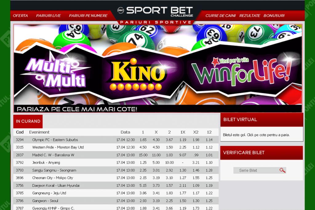 site-ul Sport Bet Challenge