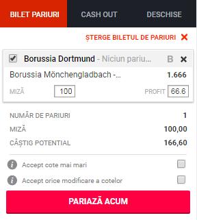 pont pariuri Borussia Monchengladbach vs Borussia Dortmund
