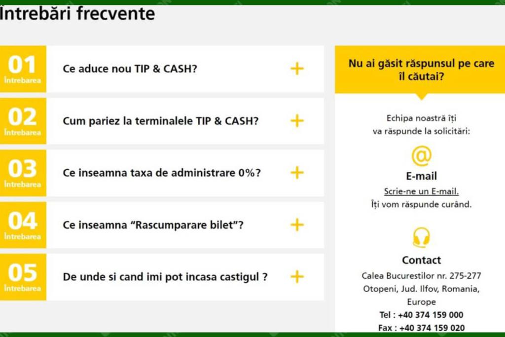 Intrebari despre Tip & Cash