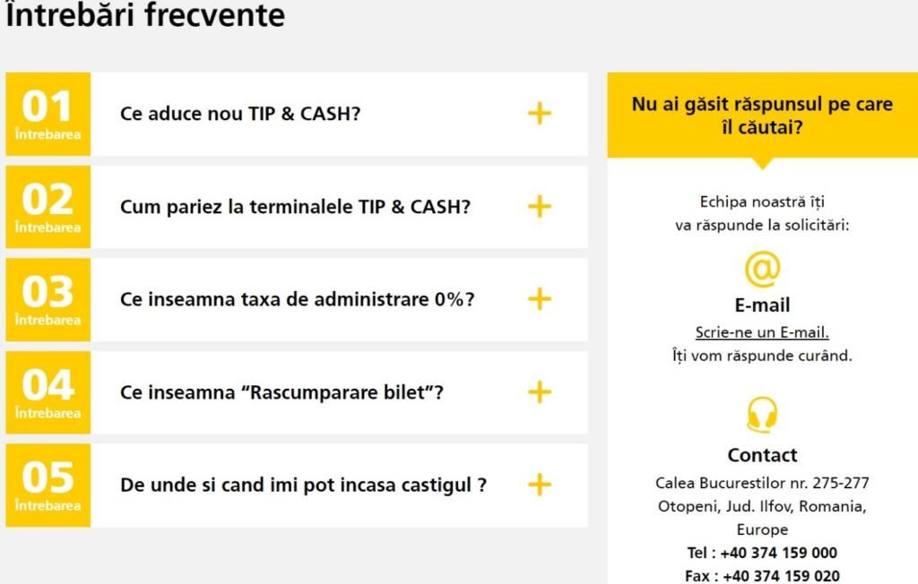 Intrebari despre Tip&Cash