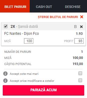 pont pariuri Nantes vs Dijon