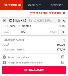 pont pariuri Nice vs Nantes