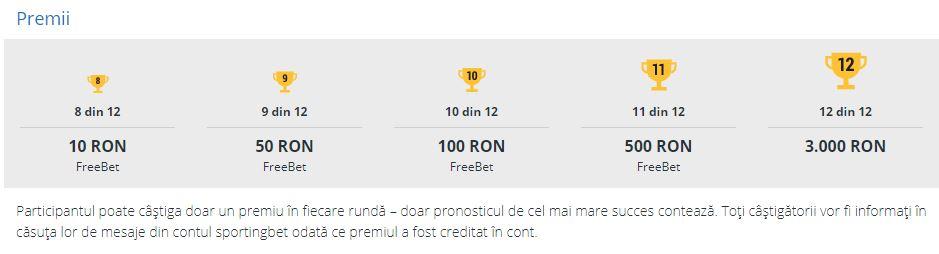 Bilet #SUPER12 Sportingbet - Castigi 3000 RON fara depunere!