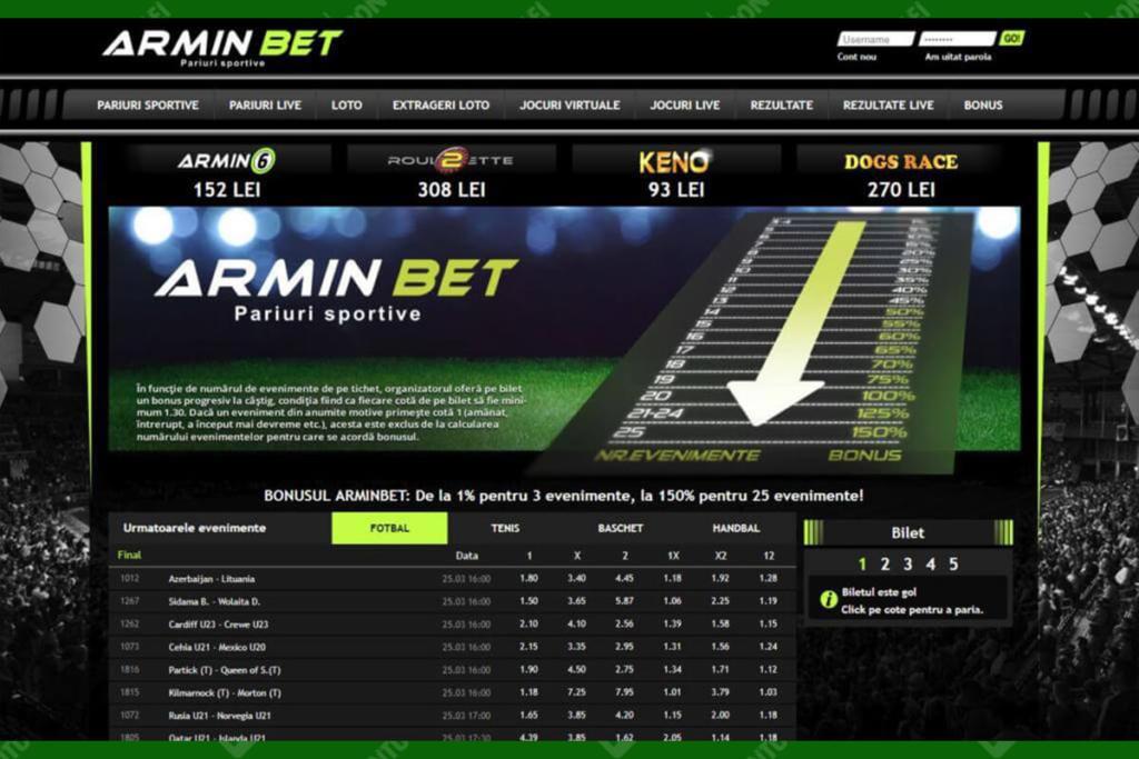 Site-ul Arminbet
