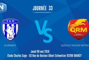 Ponturi Drancy JA vs Quevilly Rouen fotbal 9 mai 2019 National Franta