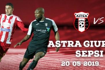 Ponturi Astra Giurgiu vs Sepsi Sf. Gheorghe fotbal 20 mai 2019 Liga I Betano Romania
