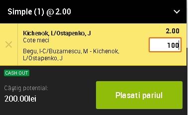 pont pariuri Begu/Buzărnescu vs Kitchenok/Ostapenko